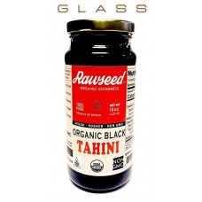 Rawseed Organic Black Tahini 16 oz 1 Pack Glass Bottle