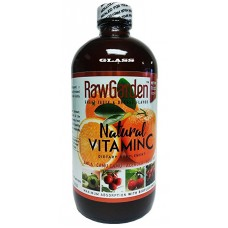 Raw Garden Natural Liquid Vitamin C 1 Pack 16 OZ Glass Bottle