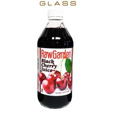 Raw Garden Black Cherry Juice Concentrate 1 Pack 16 OZ Glass Bottle