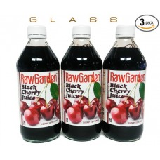 Raw Garden Black Cherry Juice Concentrate 3 Pack 16 OZ Glass Bottle
