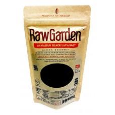 Raw Garden Hawaiian Black Lava Fine Salt 12 oz