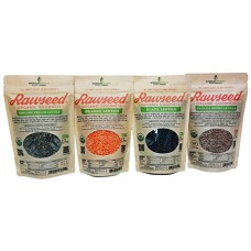 Rawseed Organic Multicolor Lentils (Black,Orange,Brown,French) 4 Pack 13 Oz