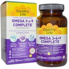 Omega 3-6-9 Complete 1,500 mg 180 Softgels