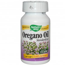 Oregano Oil Standardized 75-80 % Carvacrol 60 Vegetarian Capsules 2 pack
