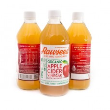 Rawseed Organic Apple Cider Vinegar with Mother 16 fl oz 3 Pack