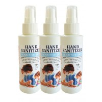 RawHarvest Hand Sanitizer Sensitive Skin Liquid Spray 4oz 3 Pack (FDA NDC 79374-140-05) Alcohol Free