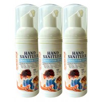 RawHarvest Hand Sanitizer Sensitive Skin Foam 1.7oz 3 Pack  ( FDA NDC 79374-140-02) Alcohol Free