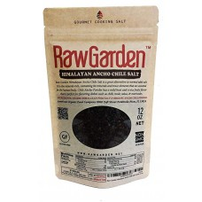 Raw Garden Himalayan Ancho Chile Salt Coarse 12 oz 1 Pack Made with Organic Ancho Chile Powder