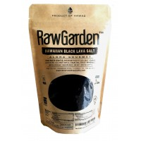 Raw Garden Black Lava Salt Coarse 2Lbs