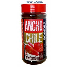 Raw Garden Ancho Chile Powder (8 oz Shaker Bottle 1 Pack) Non Irradiated, No Sulfites