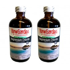Raw Garden Magnesium Chloride 8 oz Liquid 2 Pack Glass Bottles