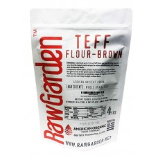 Raw Garden Brown Teff Flour 4 lb Bag 1 Pack