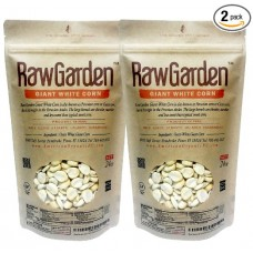 Raw Garden 3 lb Cuzco Giant White Corn, Maiz Cuzco Gigante ( 2 Pack of 24 oz )