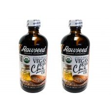 Rawseed Organic Chia Seed Oil 8 oz 2 Pack Raw, Cold-Pressed, Vegan, Non-GMO