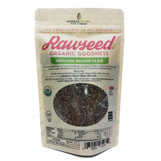 Rawseed Organic Brown Flax Seeds 12 oz 4 pack