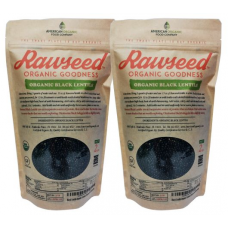 Rawseed Organic Certified Black Lentils 2 lbs 2 Pack (4 lbs total)