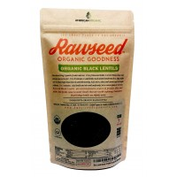 Rawseed Organic Black Lentils 2 lBS 1Pack Non Gmo Product of Canada Package in USA