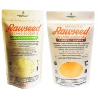 Rawseed Organic Ginger &Turmeric Powder 1 lb Bag 2 Pack Product of India