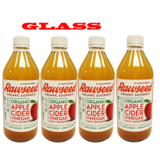Rawseed Organic Apple Cider Vinegar with Mother 16 fl oz 4 Pack
