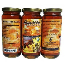 Rawseed Organic Wild Flower Brazilian Honey 16 oz 3 pack (glass Bottles)