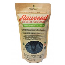 Rawseed Black Sesame Seeds (Toasted), 1.5 lbs  Organic Certified 1 Pack